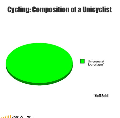 Pie Chart: Composition of a Unicyclist