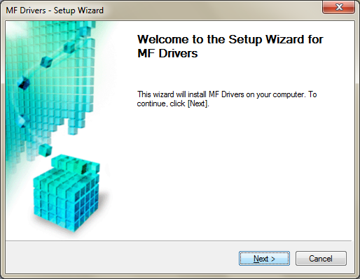 MF Driver Installation Screenshot