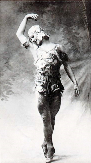 Check out those hams.  Nijinsky in Le Spectre de la Rose (public domain in US).