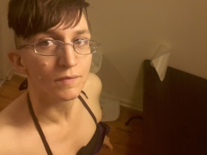I just included this one because I like it.  Doesn't really add much to the equation, but my shoulders look awesome. Also, I'm wearing my glasses in this shot.  Amazing!  (I usually wear contacts, because peripheral vision is awesome.)