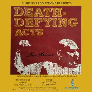 Flyer image for Death-Defying Acts