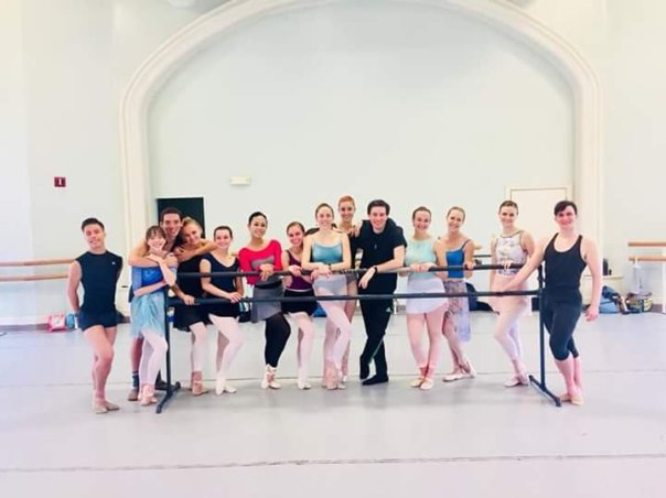 The company, first day of class, 2018-2019 season.